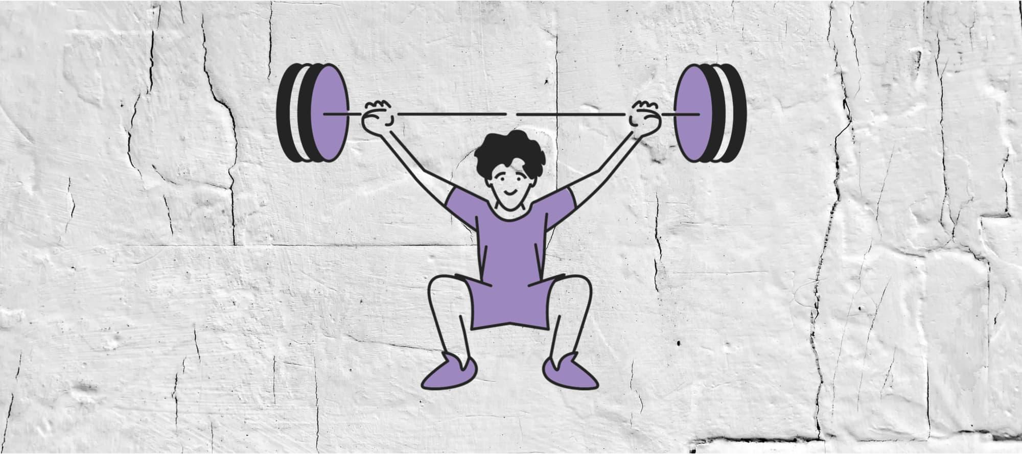 Illustration Gewichtheber/In